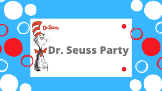 Dr. Seuss Party, red and white circles