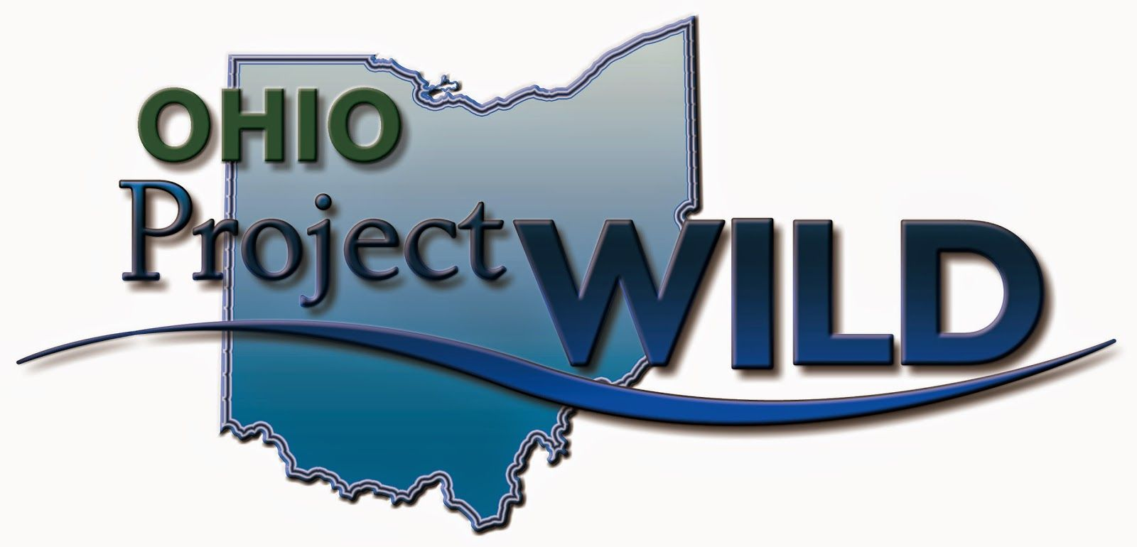 Ohio Project Wild lettering on a graphic of the state of Ohio